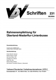 VDV-Schrift 231 Rahmenempfehlung für Überland-Niederflur-Linienbusse [eBook]
