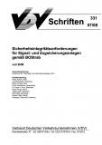 VDV-Schrift 331 Sicherheitsintegritätsanforderungen für Signal und Zugsicherungsanlagen ....[eBook]