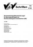 VDV-Schrift 332 Sicherheitsintegritätsanforderungen für Bahnsignalanlagen [Print]