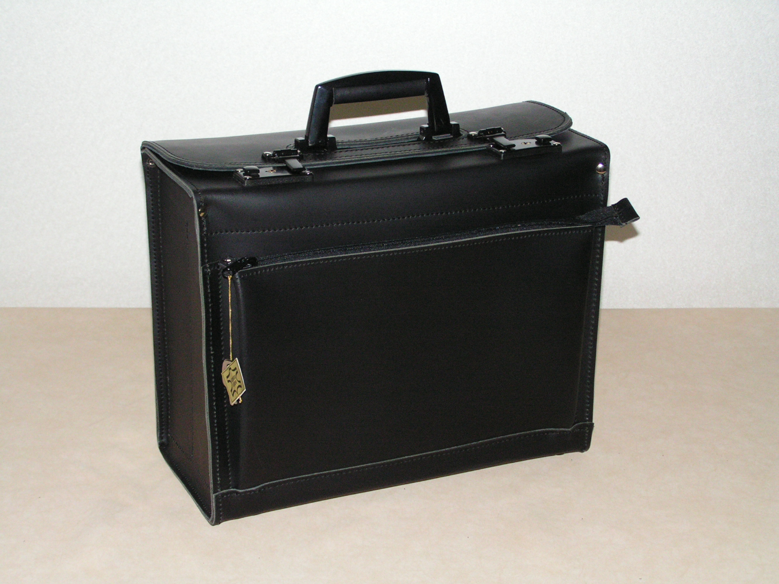Fahrertasche/Pilotenkoffer Nr. 801 Rindleder schwarz