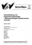 VDV-Schrift 351 Instandhaltung von Zugsicherungsanlagen - Stellwerksanlagen (Elekt. Technik) [Print]