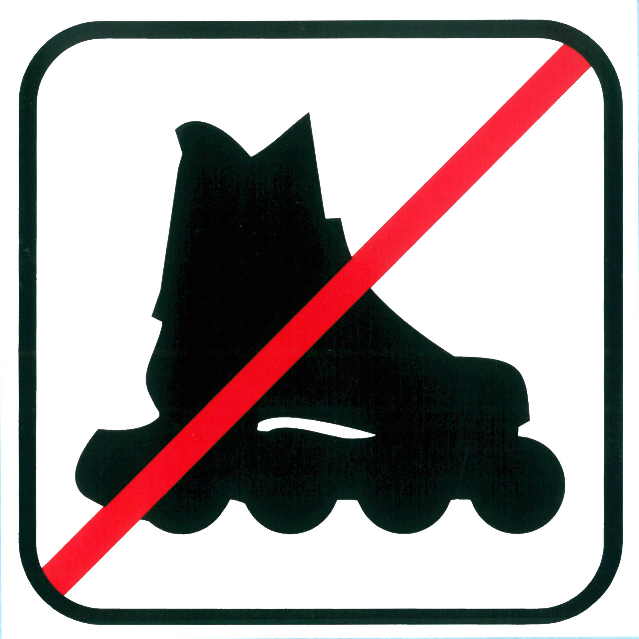 Piktogramm V20392: Verbot für Inline-Skater