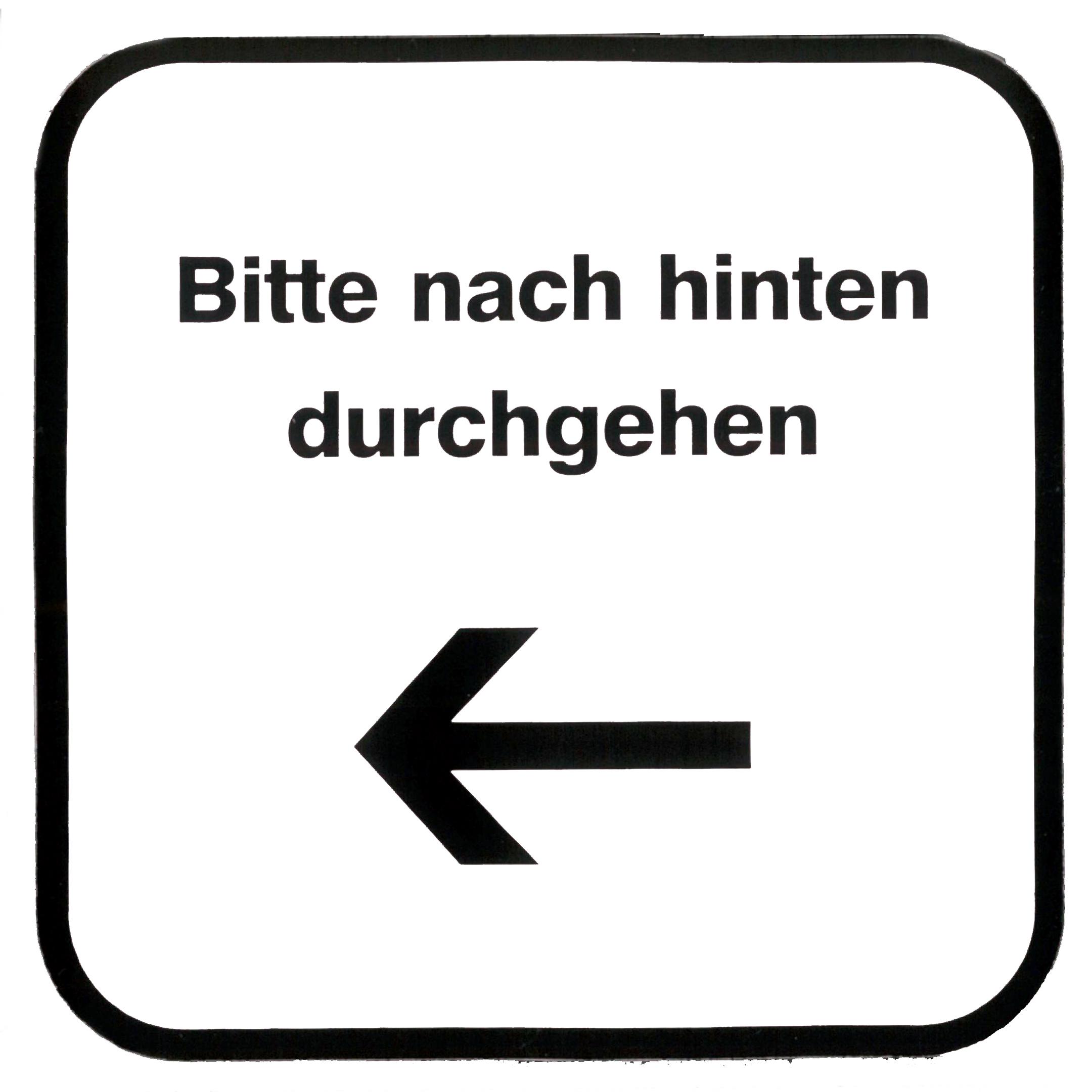 Piktogramm V20420: Bitte nach hinten durchgehen