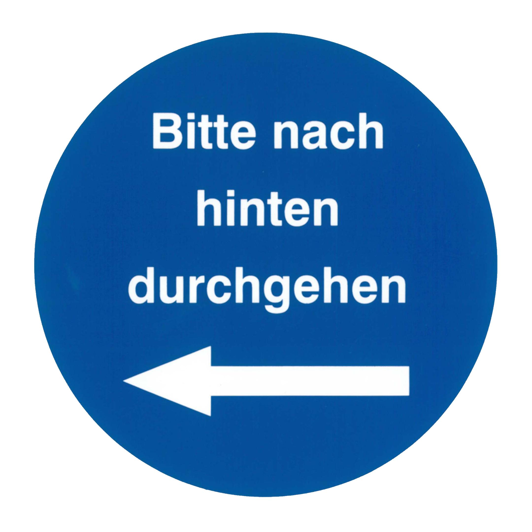 Piktogramm V20420B: Bitte nach hinten durchgehen