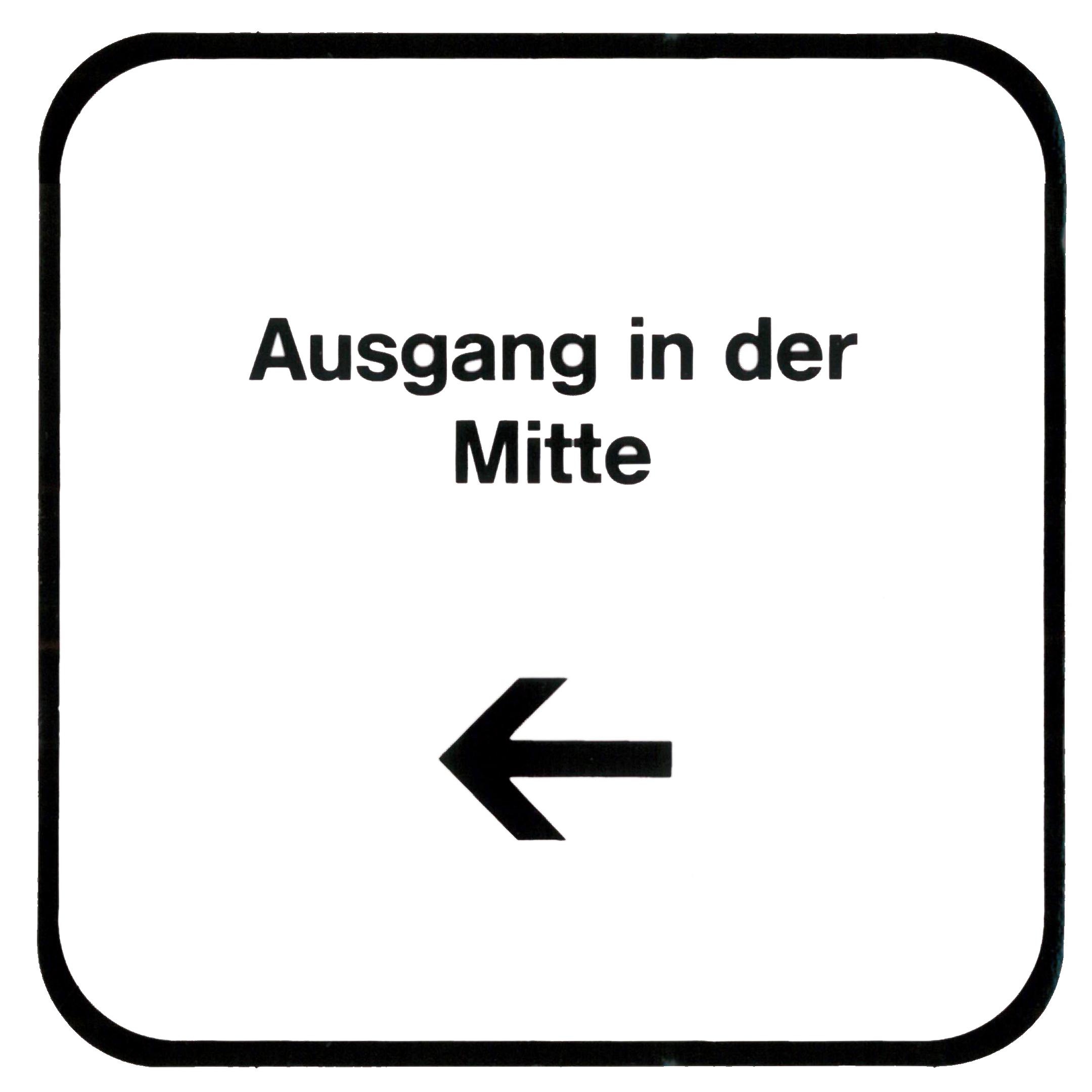 Piktogramm V20430: Ausgang in der Mitte