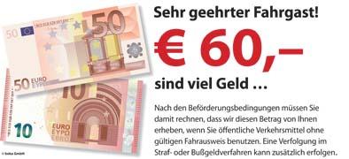 Piktogramm V20491: 60Euro sind viel Geld