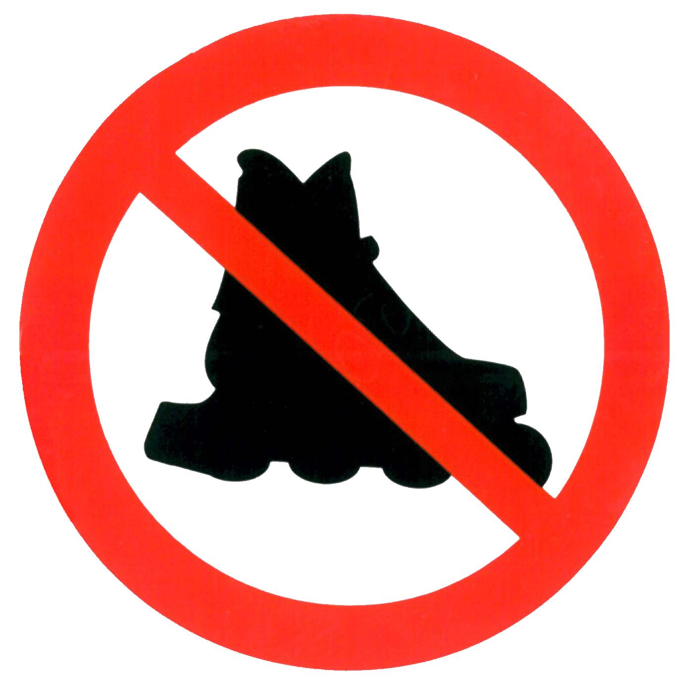 Piktogramm V20580: Verbot für Inline-Skates