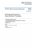 VDV-Schrift 452 VDV Standart Interface: Route Network / Timetable including ......[eBook]