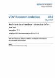 VDV-Schrift 454 Real - time data insertable information Version 2.1  [eBook]