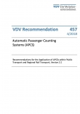 VDV-Schrift 457 Automatic Passsenger Couting Systems (APCS)  [Print]