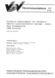 VDV-Schrift 420 Technical Requirements for Automatic Vehicle Location/Control Systems ....[Print]
