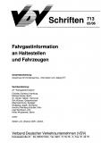 VDV-Schrift 713 Fahrgastinformationen an Haltestellen und Fahrzeugen  [Print]