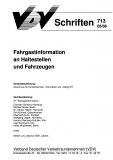 VDV-Schrift 713 Fahrgastinformationen an Haltestellen und Fahrzeugen  [eBook]