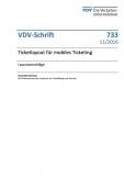 VDV-Schrift 733 Ticketlayout für mobiles Ticketing [eBook]