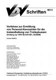 VDV-Schrift 881/1 Verfahren zur Ermittlung von Personalkennzahlen für Instandhaltung von ...[eBook]