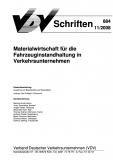 VDV-Schrift 884 Materialwirtschaft für die Fahrzeuginstandhaltung in Verkehrsunternehmen [eBook]