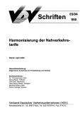 VDV-Schrift 950 Harmonisierung der Nahverkehrstarife [Print]