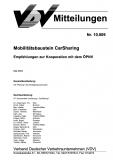 VDV-Mitteilung 10009 Mobilitätsbaustein CarSharing [Print]