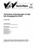 VDV-Schrift 401 Technische Anforderungen an digitale Ansagegeräte (DAG) [Print]