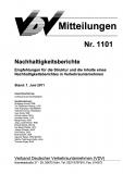 VDV-Mitteilung 1101 Nachhaltigkeitsberichte - Empfehlungen für die Struktur und die Inhalte [Print]
