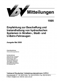 VDV-Mitteilung 1505 Empfehlung zur Beschaffung und Instandhaltung von hydraulischen Systemen [Print]