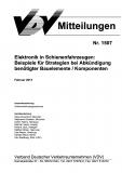 VDV-Mitteilung 1507 Elektronik in Schienenfahrzeugen: Beispiele für Strategien [PDF Datei]