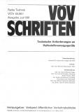 VÖV-Schrift 04.06.1 Technische Anforderungen an Haltestellenansagegeräte [eBook]