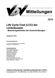 VDV-Mitteilung 2315 Life Cycle Costs (LCC) bei Linienbussen [eBook]