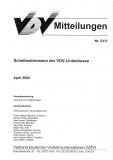 VDV-Mitteilung 2317 Scheibenbremsen der VDV - Linienbusse [Print]