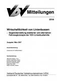 VDV-Mitteilung 2318 Wirtschaftlichkeit von Linienbussen - Gegenüberstellung [Print]