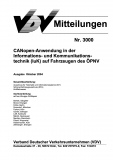 VDV-Mitteilung 3000 CANopen - Anwendungen in der Informations- und Kommunikationstechnik... [eBook]