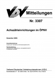 VDV-Mitteilung 3307 Achsenzähleinrichtung im ÖPNV [Print]