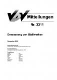 VDV-Mitteilung 3311 Erneuerung von Stellwerken [Print]