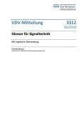VDV-Mitteilung 3312N Glossar für Signaltechnik (mit engl. Übersetzung) [Print]