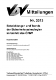 VDV-Mitteilung 3313 Entwicklung des Trends der Sicherheitstechnologien im Umfeld des ÖPNV [eBook]