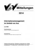 VDV-Mitteilung 3314 Informationsmanagement im Umfeld von itcs [Print]