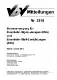 VDV-Mitteilung 3315 Stromversorgung für Eisenbahn-Signal-Anlagen und ... [eBook]
