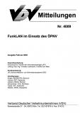 VDV-Mitteilung 4009 FunkLan im Einsatz des ÖPNV [Print]