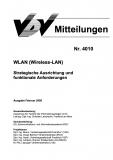 VDV-Mitteilung 4010 Wlan Strategische Ausrichtung und funktionale Anforderung [Print]