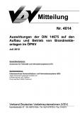 VDV-Mitteilung 4014 Auswirkungen der DIN 14675 - Aufbau und Betrieb von Brandmeldeanlagen [Print]