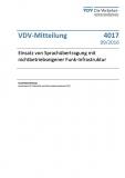 VDV-Mitteilung 4017 Einsatz von Sprachübertragung mit nichtbetriebseigener Funk ... [Print]