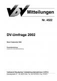 VDV-Mitteilung 4522 DV - Umfrage 2002 [eBook]