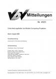 VDV-Mitteilung 4523 Entscheidungsfelder bei Mobile - Computing Projekte [Print]