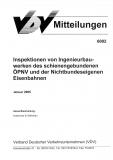 VDV-Mitteilung 6002 Inspektionen von Ingenieurbauwerken des schienengebundenen [Print]