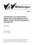 VDV-Mitteilung 6002 Inspektionen von Ingenieurbauwerken des schienengebundenen ÖPNV [eBook]