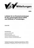 VDV-Mitteilung 6203 Leitfaden für ein Brandschutz - Konzept für den schienengebundenen ... [Print]
