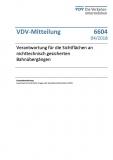 VDV-Mitteilung  6604 Verantwortung für die Sichtflächen an sichttechnischen ... [Print]