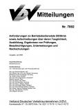 VDV-Mitteilung 7002 Anforderungen an Betriebsdienste BOStab sowie Aufschreibungen ......[eBook]