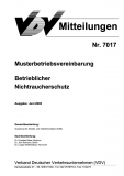 VDV-Mitteilung 7017 Musterbetriebsvereinbarung betrieblicher Nichtraucherschutz [Print]