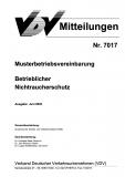 VDV-Mitteilung  7017 Musterbetriebsvereinbarung betrieblicher Nichtraucherschutz [eBook]